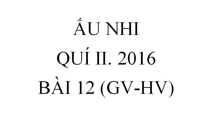 Bài 12. CHÚA SỐNG LẠI (GV-HV)