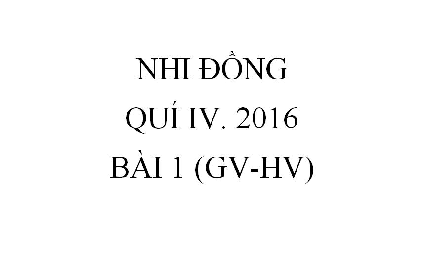 BÀI 1. CÁC CÔNG VIỆC TRONG THỜI ĐẠI KINH THÁNH (GV-HV)