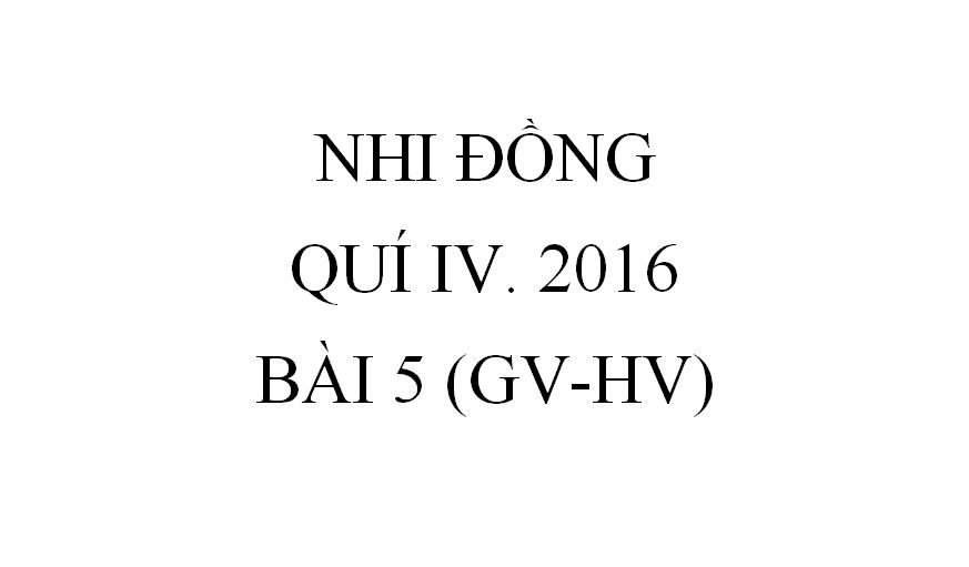 BÀI 5. SỐNG YÊU THƯƠNG (GV-HV)